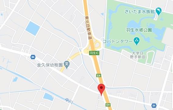 新川うどん地図