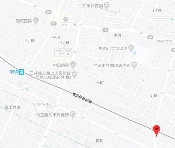 地図 埼玉県加須市久下1674-1