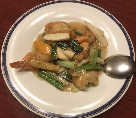 大海老の葱生姜炒め