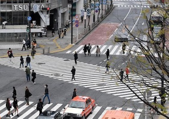渋谷自粛中の交差点
