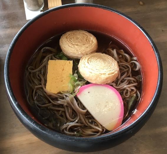 中禅寺観光センター 湯葉蕎麦 1250