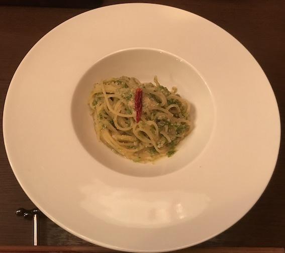 06 スパゲッティ 生海苔と明太子のペペロンチーノ
