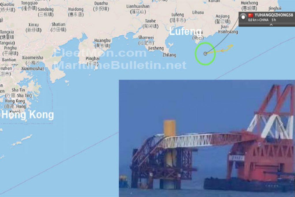 起重機船クレーン倒壊事故in中国-01