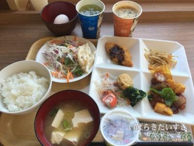 健康朝食(無料朝食):スーパーホテル高岡南