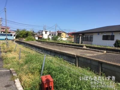 鹿島鉄道 鉾田駅ホーム跡(2017年05月撮影)