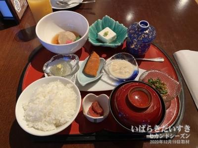 朝食(和食):ホテルテラスザガーデン水戸