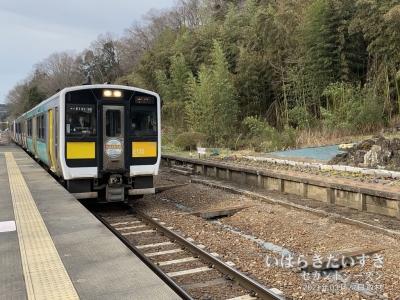 JR袋田駅から帰ります。
