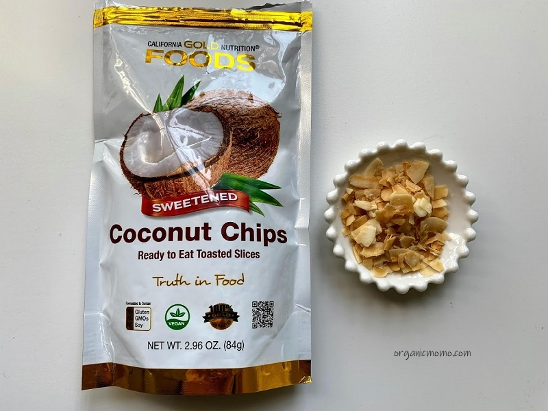 California Gold Nutrition Toasted Coconut Chips  Refined Sugarの画像