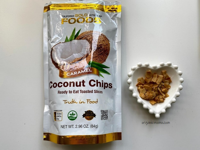 California Gold Nutrition Toasted Coconut Chips Caramelの画像