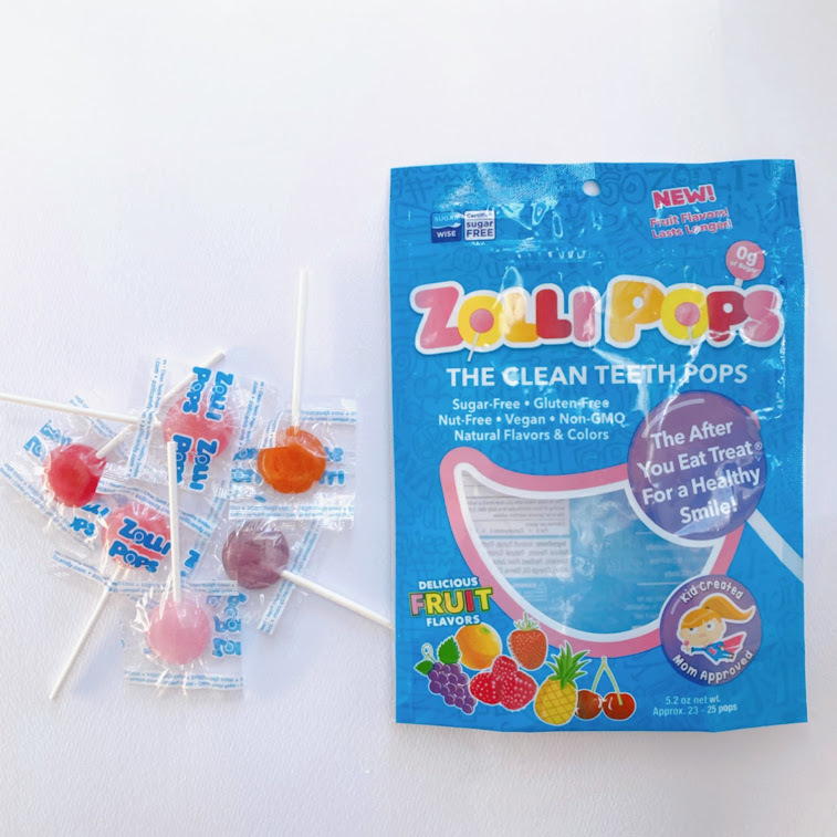 Zollipops, クリーンティースポップス、イチゴ、オレンジ、ラズベリー、チェリー、グレープ、パイナップル 5.2 oz