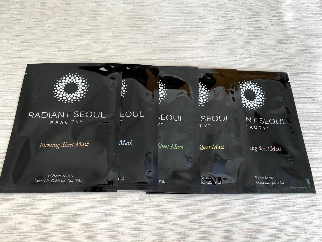 Radiant Seoulのシートマスク5枚