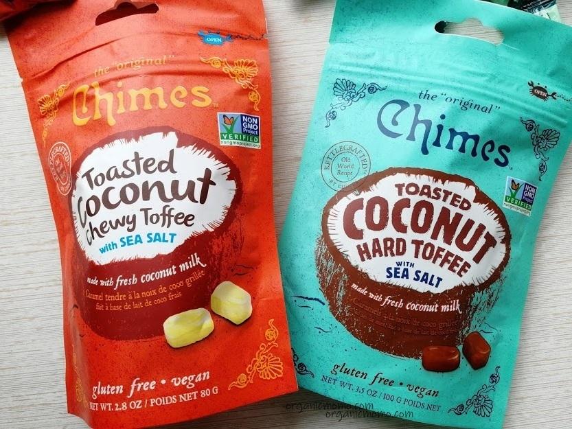 Chimes, こんがりココナッツのハードトフィ&チューイトフィー海塩入りの画像