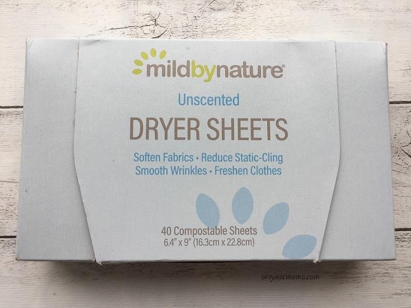 Mild By Nature, 乾燥機用シート型柔軟剤、無香料の画像4