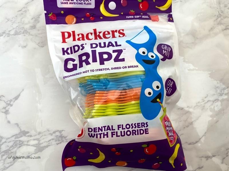 Plackers, Kids' Dual Gripz、フッ素配合デンタルフロスの画像