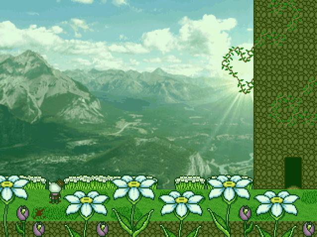 ダージュの調律 スクショ 仇を討つべく朝日に照らされる山岳を往く主人公ダージュ