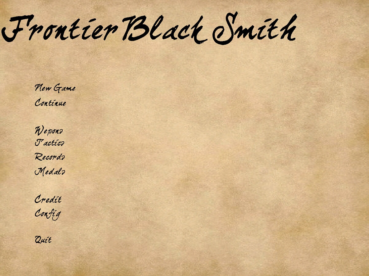 Frontier blacksmith フロンティアブラックスミス fbs スクショ タイトル画面