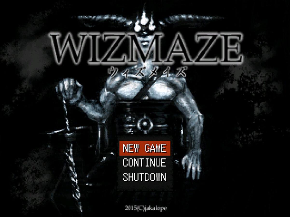 WIZMAZE タイトル画面 スクショ