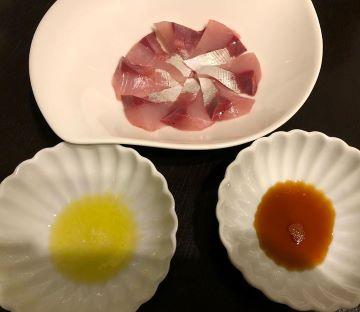 オリーブオイル、醤油1