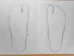 自作ランサン3・足の型取り