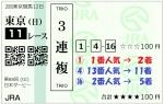 2021年5月30日(日)日本ダービー(3連複)