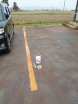 2020年5月4日・駐車場の白線を塗る前
