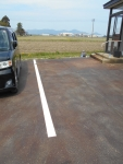 2020年5月4日・駐車場の白線を塗り直した後