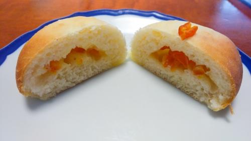 オレンジピールとピザ用チーズ