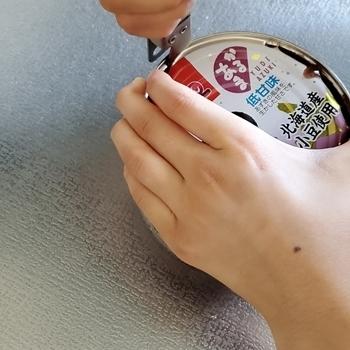 小学生の缶切り