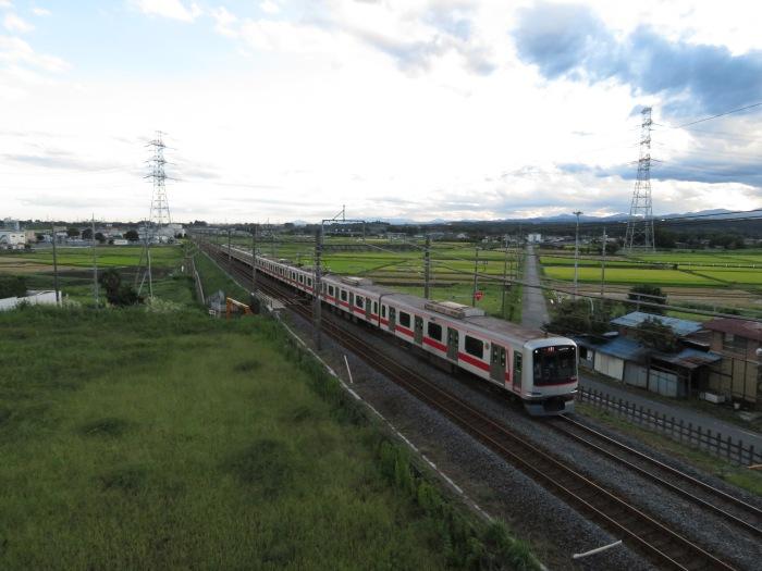 東武東上線を走る東急東横線の車両