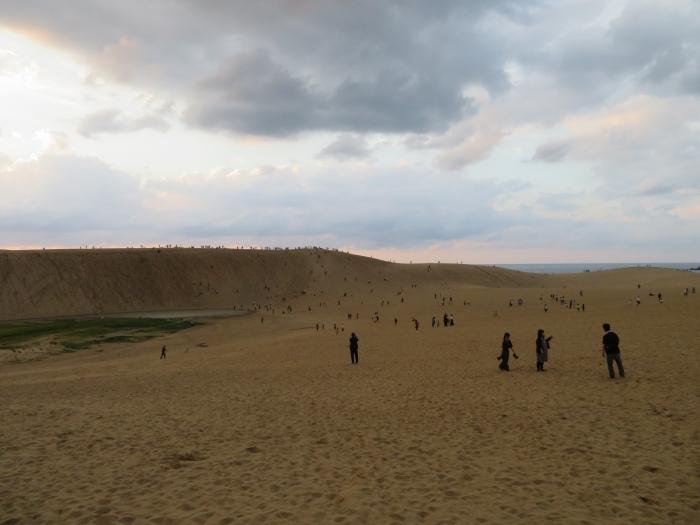 鳥取砂丘に上陸
