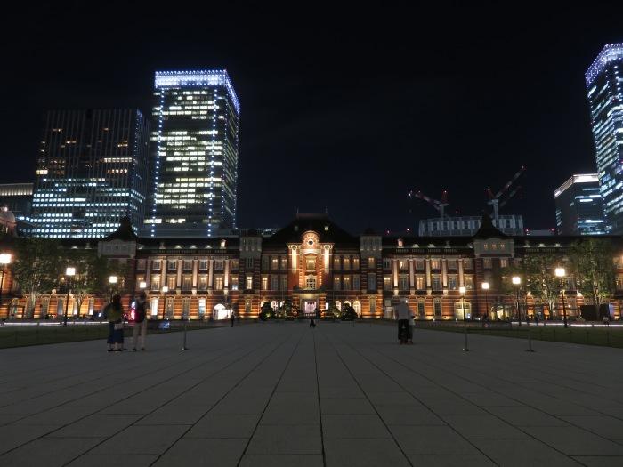 夜景の映える東京駅