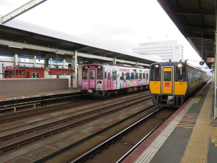 鳥取駅のホーム