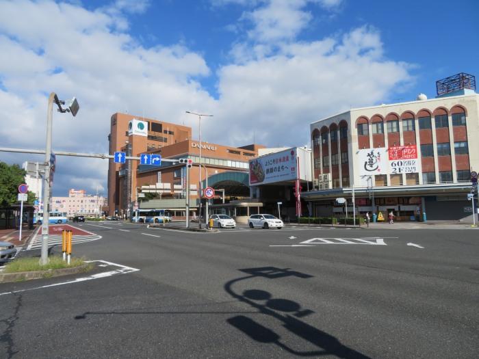 今朝も快晴の鳥取駅前