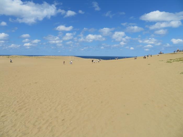 混んでも なお広大な鳥取砂丘