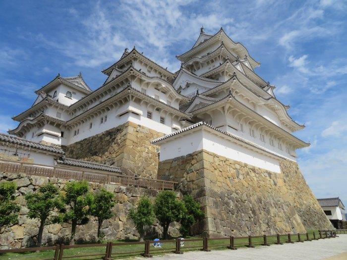 間近から眺める姫路城