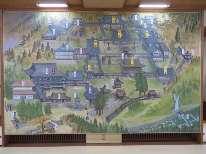 永平寺の案内地図
