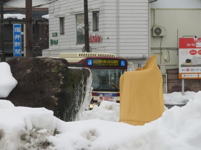 勝山市方面への路線バス