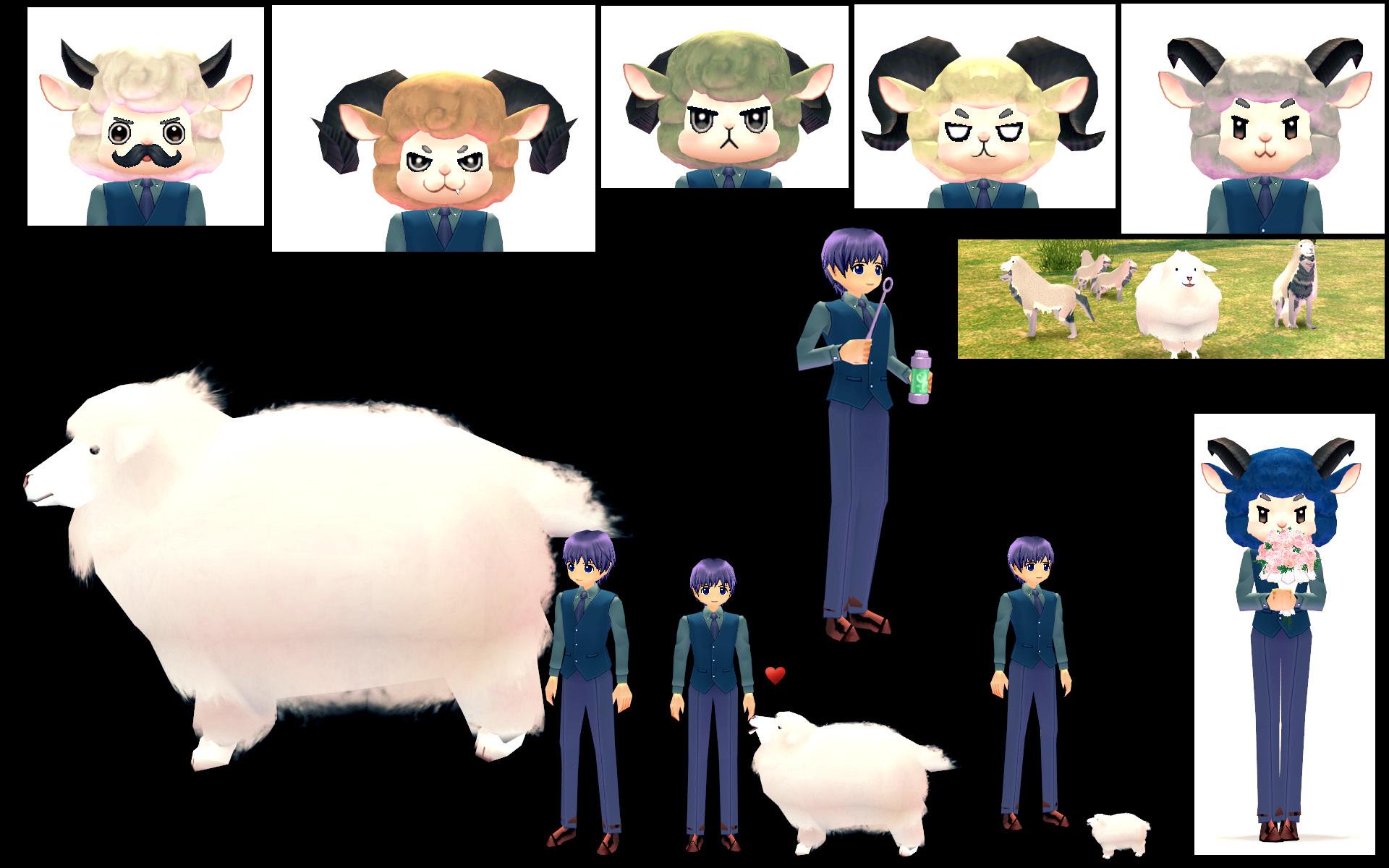 北米:綿あめ羊イベント