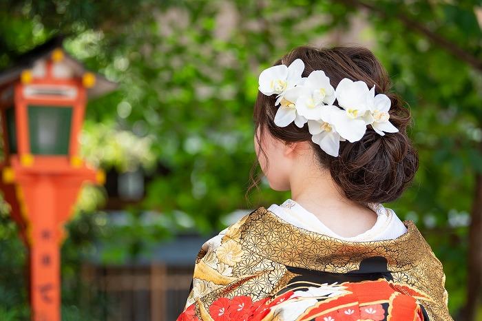 胡蝶蘭髪飾り