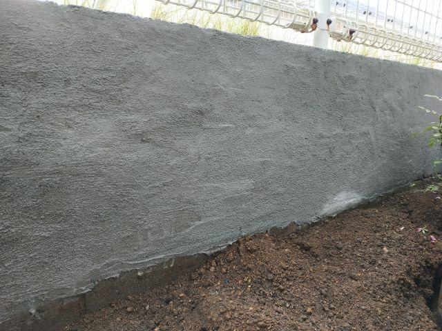 ブロック塀 インスタントモルタル DIY
