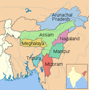 7sisters in india map