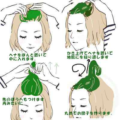 3how ro apply henna for long hair 4