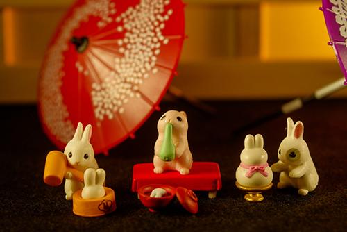 ツバキアキラが撮った、エポック社・もちつきうさぎ4・もち祭り編。