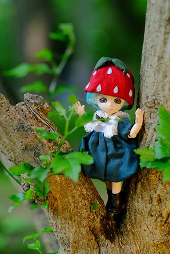 PARABOX・プチフェアリーをメイクした、ふうちゃん。イチゴの妖精さんは、ちょっとおてんば娘です。