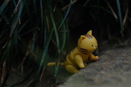 ツバキアキラが撮った、Cup Figure まぐねっこ その2。茂みから、ひょっこり顔を出した、まぐねっこ。