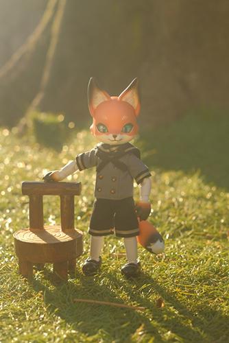 ツバキアキラが撮った、時兎-異夢-さんのKonちゃん。おそとに飛び出して、綺麗な日差しの中で遊んでいます。