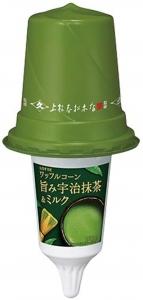 ワッフルコーン 旨み宇治抹茶&ミルク