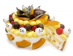 ハロウィンスカル ~かぼちゃとマシュマロのケーキ~