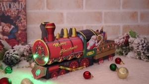 クリスマス ライトメロディーカード 機関車