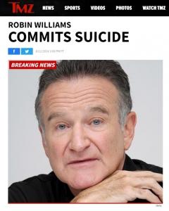 TMZ Robin Williams COMMITS SUICIDE